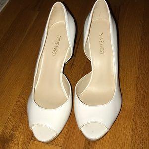 Beautiful white open toed heels